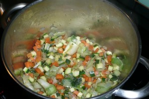 Soupe de poulet aux pâtes à potage (1)