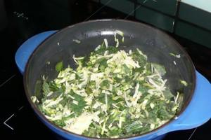 Fricassée d'orties et plantain à la courgette (1)