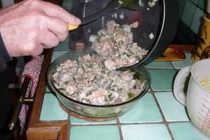 Gratin cabillaud, saumon et crevettes au tofu soyeux (3)