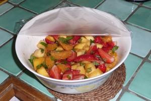 Salade épicée aux fraises (2)