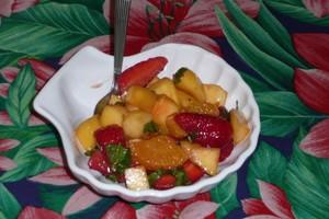 Salade épicée aux fraises (3)