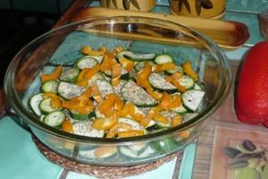 Gratin de courgettes et poivrons au tofu à l'indienne (1)