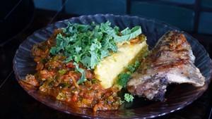 Gratin de polenta sauce tomate au chou kale (4)