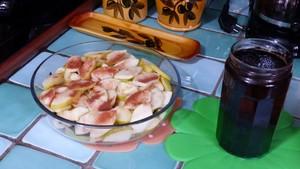 Crumble de pommes crème aux pruneaux (1)