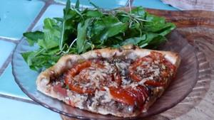 Tarte aux échalotes confites et aux tomates (5)