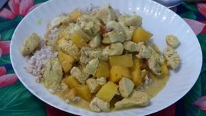 Curry de dinde à la mangue (2)