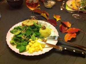 salade de mache aux pommes