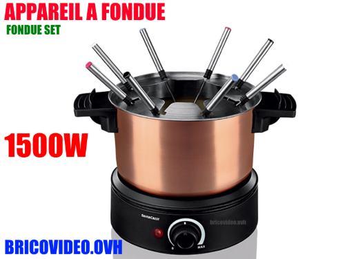 lidl appareil fondue silvercrest sfe 1500w accessoires test avis prix notice et. Black Bedroom Furniture Sets. Home Design Ideas