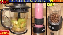 AICOK - Blendeur mixeur hachoir smoothie moulin à café - présentation et test