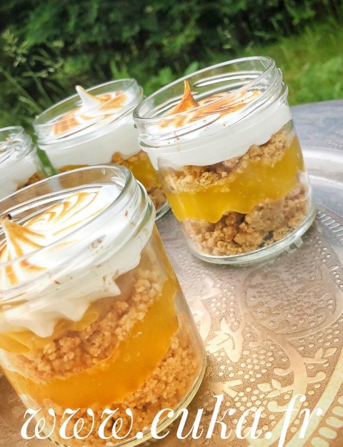 Verrine façon tarte aux citrons meringuée