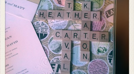Scrabble Art Wedding Gift