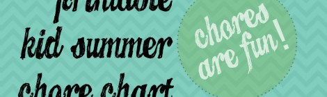 DIY Printable Kid Summer Chore Chart