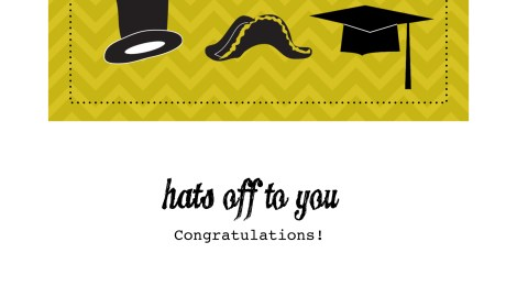 DIY Printable Graduation Card