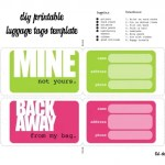 DIY Printable Luggage Tags