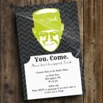 DIY Printable Halloween 'Frank' Invite