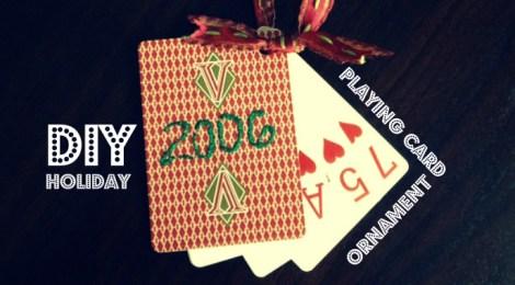 DIY Playing Card Ornament
