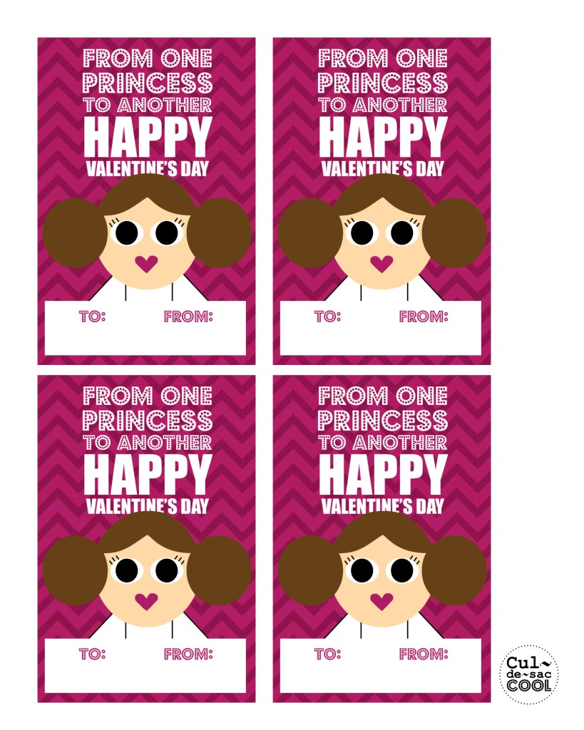 Cool Star Wars Valentine Cards 8x10