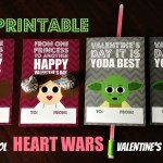 DIY Printable Cool Heart Wars Valentine's Day Cards