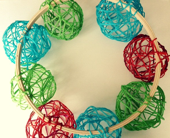yarn wreath 3