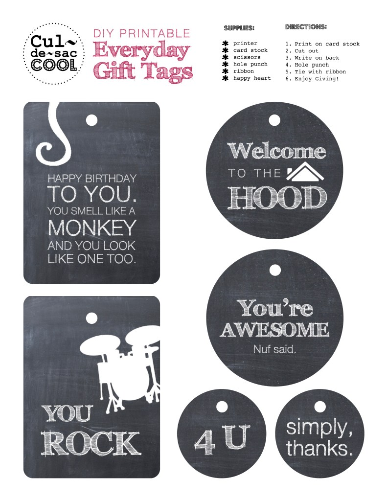 Everyday Gift Tags