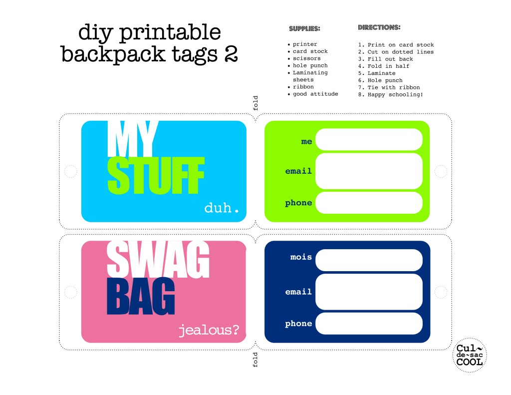back pack tags 2