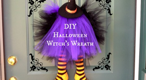 DIY Halloween Witch's Wreath