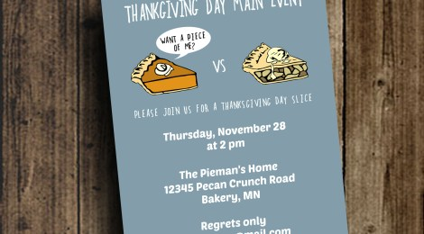 DIY Printable Thanksgiving Day Invite