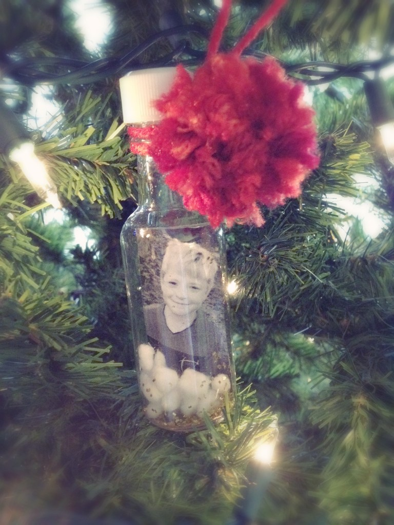 diy photo waterless snow globe 8