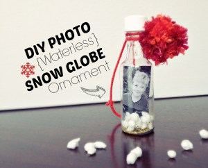 diy photo waterless snow globe ornament cover