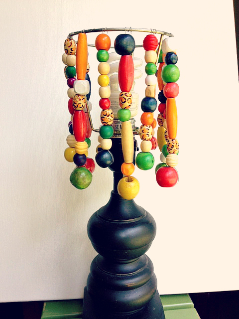 DIY bead lampshade 12