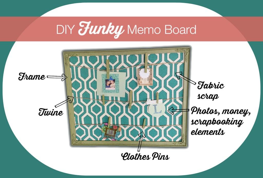diy funky memo board 6