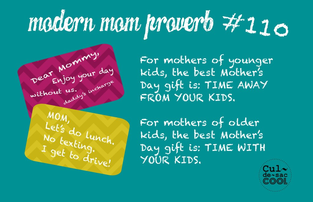 Mother's Day Gift Modern Mom Proverb #110