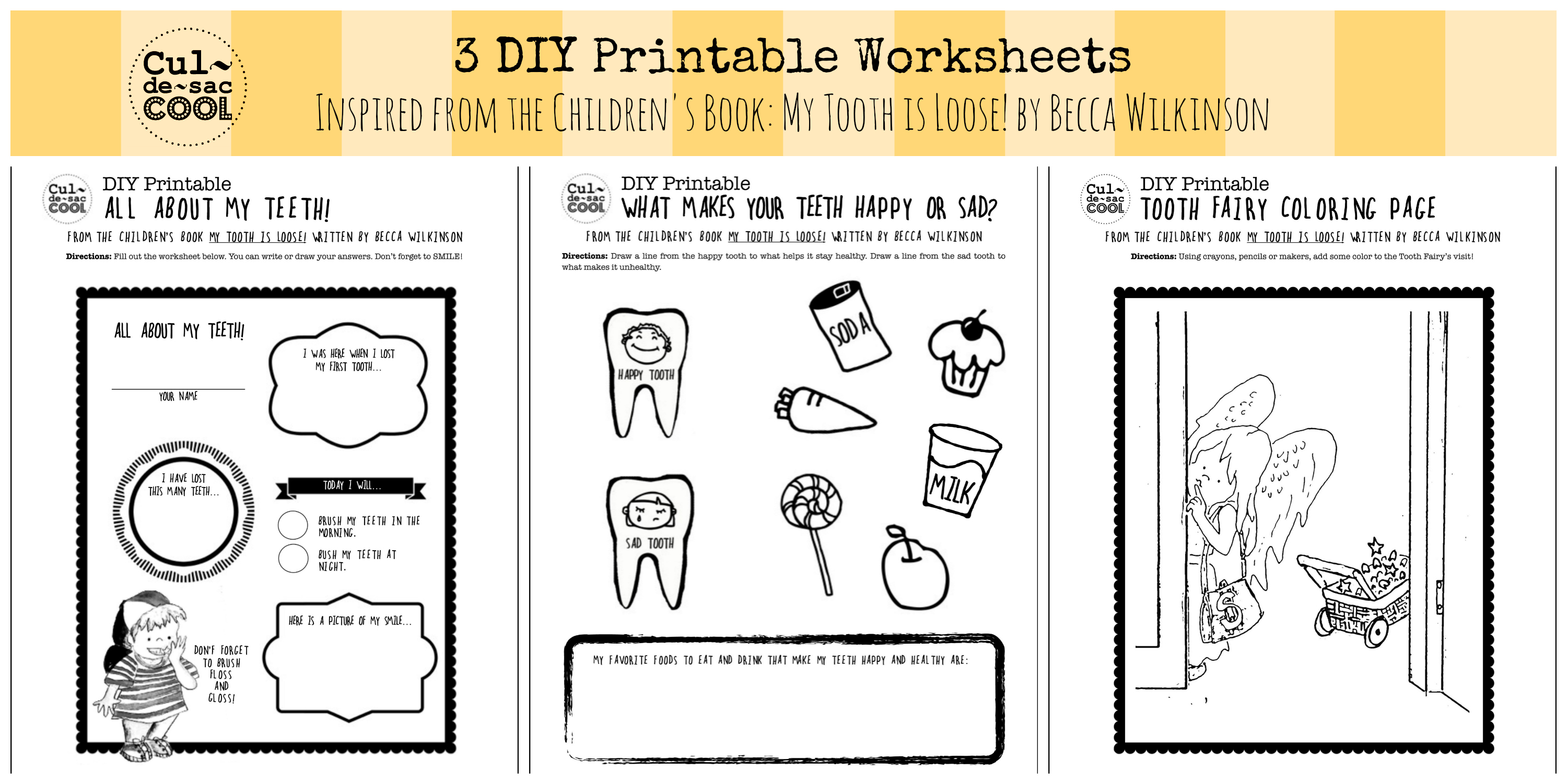 3 DIY Printable Worksheets Inspired from the Children\'s Book: My ...