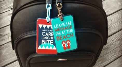 DIY Printable Beach Luggage Tags
