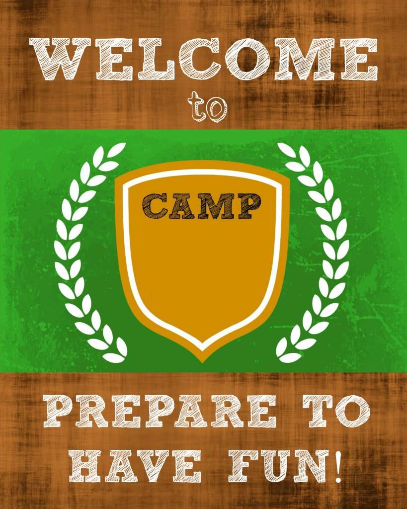DIY Camp Birthday Door Sign Template