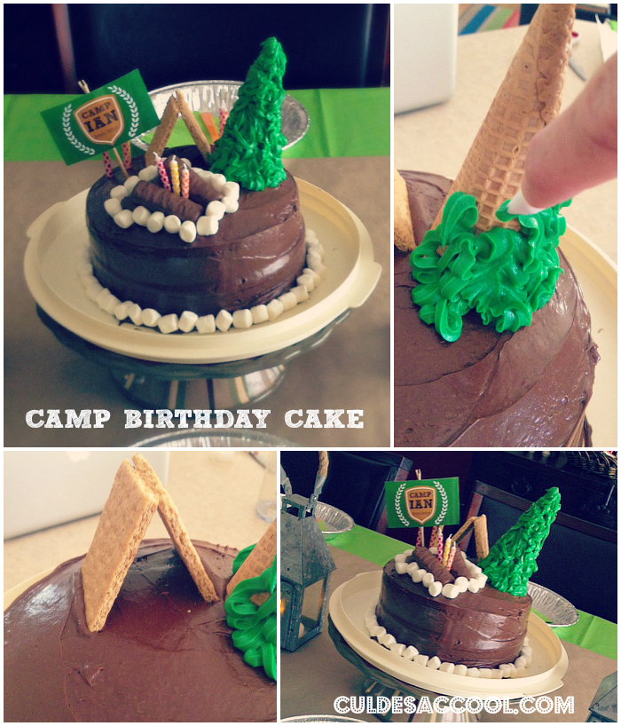 DIY Camp Birthday Cake Collage