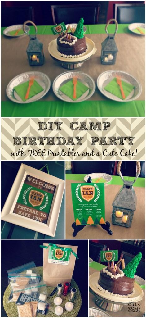 DIY Camp Birthday Collage