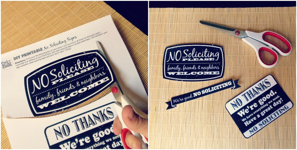 DIY Printable No Soliciting Collage 1