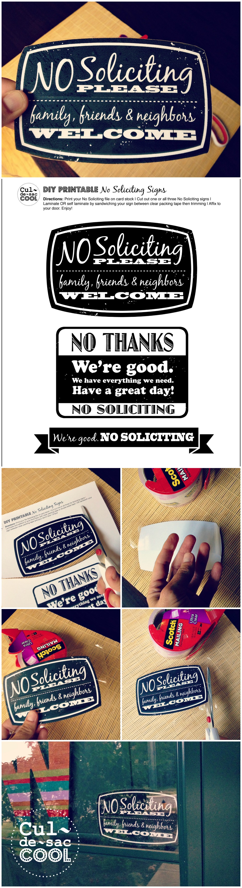 picture about No Soliciting Printable identified as Do it yourself Printable No Soliciting Signs and symptoms