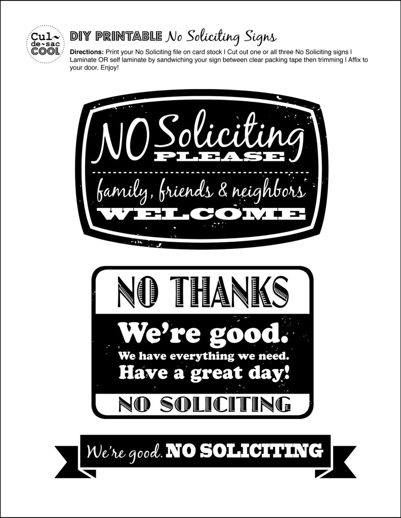 Ridiculous image with regard to no soliciting printable