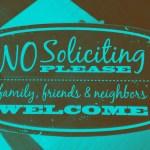 DIY Printable No Soliciting Signs