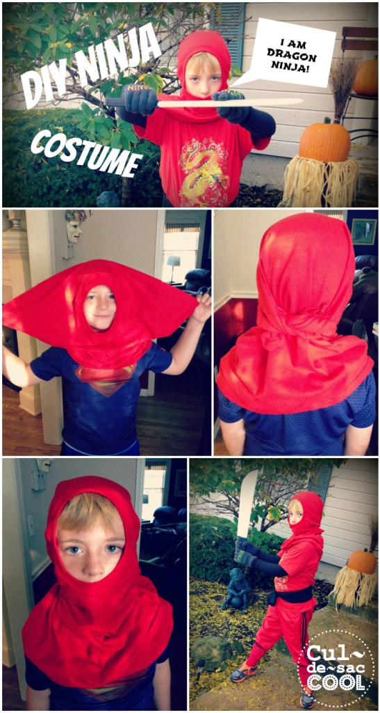 DIY Ninja Costume Collage