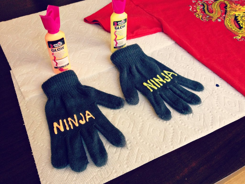DIY Ninja Costume gloves