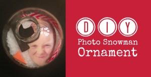 diy photo snowman ornament cover