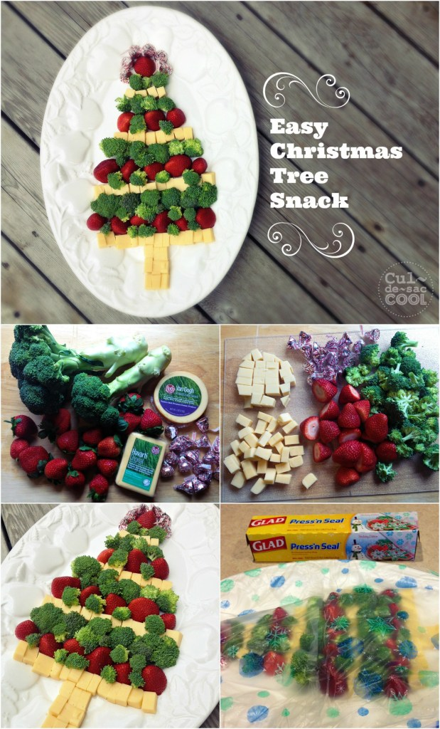 Easy Christmas Tree Snack Collage