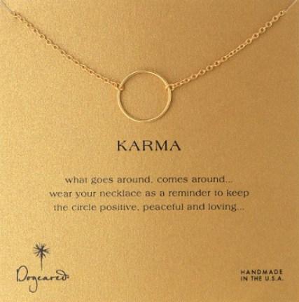 Dogeared Karma 14k Gold-PlateNecklace