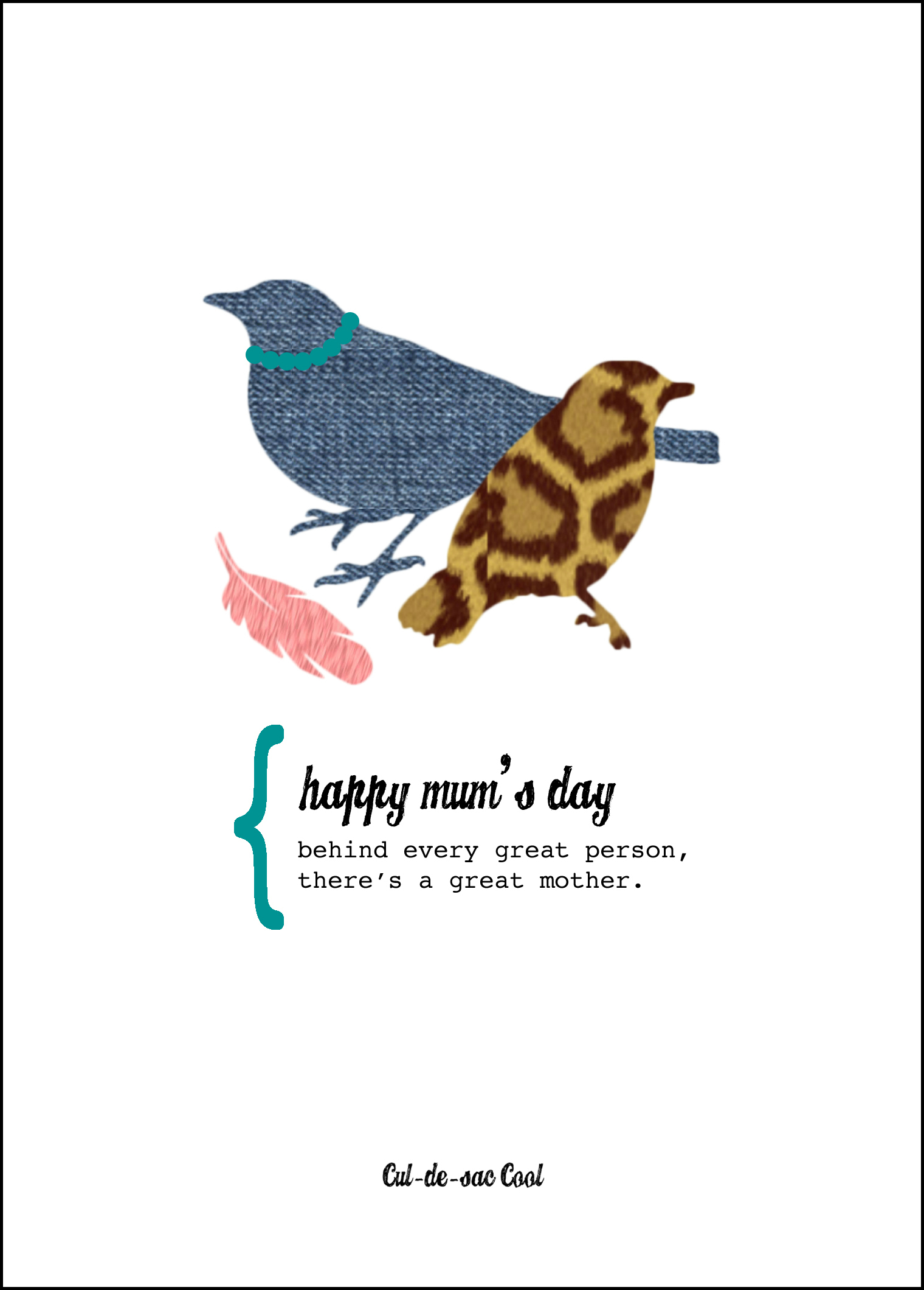 Happy Mum's Day Mother's Day Card