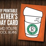 DIY Printable Father's Day Card 'Dad You're Cool Beans'