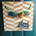 Easy DIY Chevron Cork Board Sign