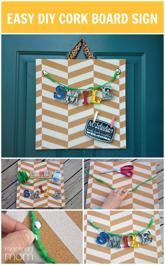 Easy DIY Cork Board Sign Collage